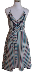 Anthropologie short dress Blue Girls From Savoy Gull Wing Nautical Striped on Tradesy