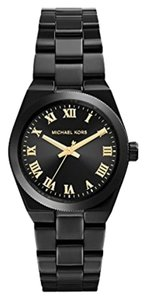 Michael Kors Michael Kors Mini Channing Black Ion-Plated Stainless Steel Ladies Watch 33mm MK6100
