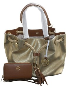 Michael Kors Marina Gathered Tote in Gold