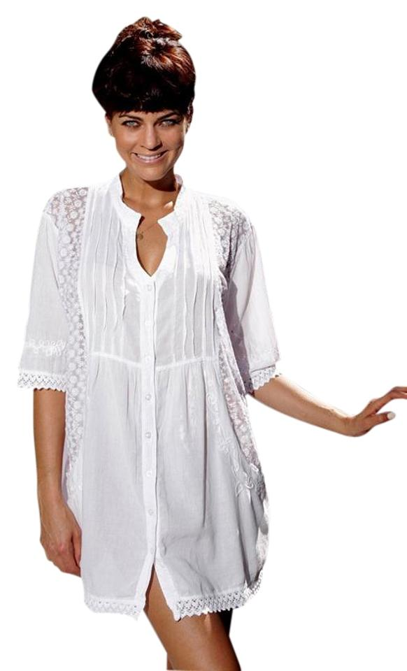 27dc7a4768f Lirome short dress White Lace Embroidered Tunic Summer on Tradesy Image 0  ...