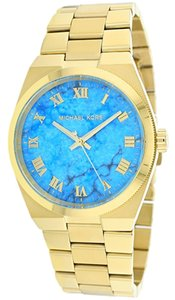 Michael Kors Michael Kors Channing Gold-Tone Turquoise Dial Ladies Watch 38mm MK5894