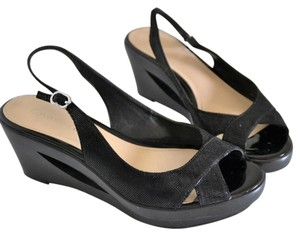 Calvin Klein Black Wedges