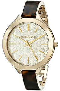 Michael Kors Michael Kors Slim Runway Tortoise and Gold-Tone Ladies Watch 42mm MK4293
