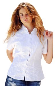 Lirome Embroidered Nautical Top White
