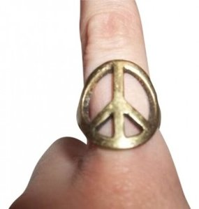 Urban Outfitters Bronze Peace Ring