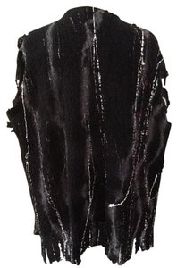Cynthia Morton Hand Painted Eclectic Top Black