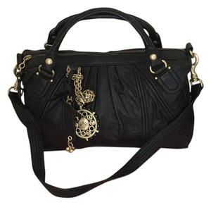 Juicy Couture Satchel in Black & Gold