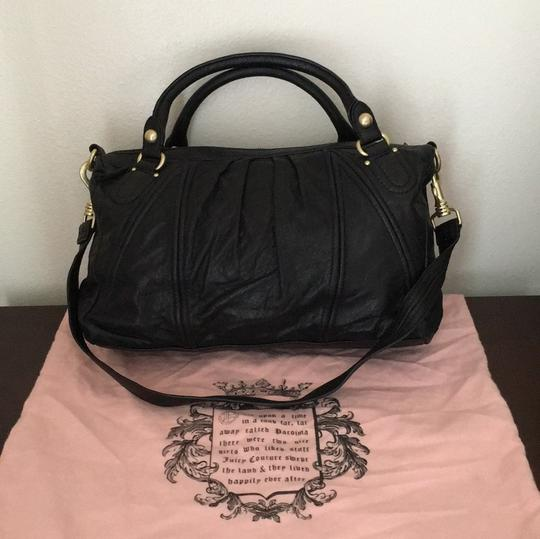 Juicy Couture Satchel in Black & Gold Image 1