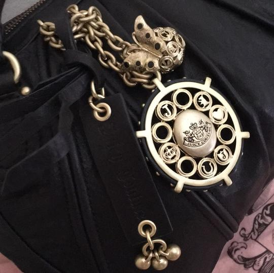 Juicy Couture Satchel in Black & Gold Image 2