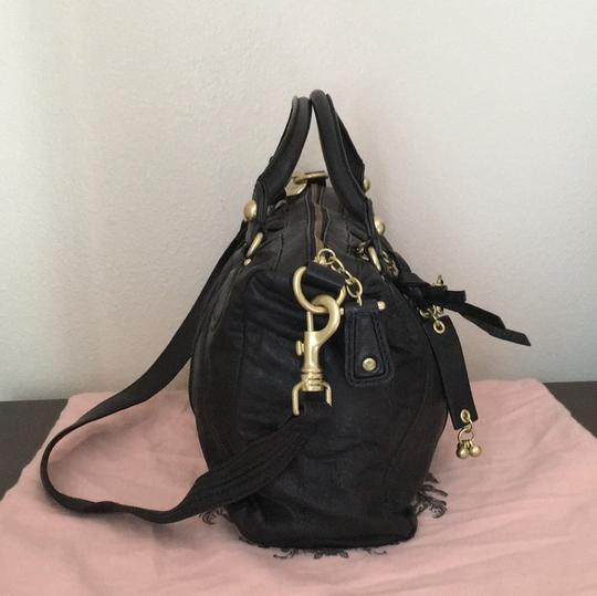Juicy Couture Satchel in Black & Gold Image 3