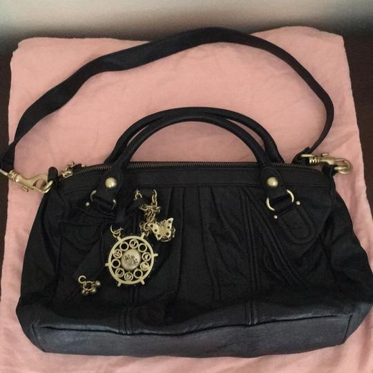 Juicy Couture Satchel in Black & Gold Image 7