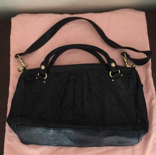 Juicy Couture Satchel in Black & Gold Image 8