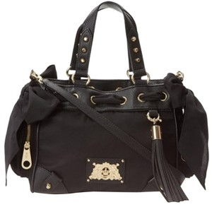 Juicy Couture Leather Trim Shoulder Bag