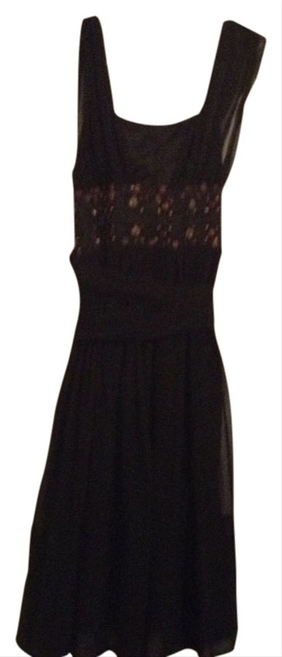 French Connection Black Grecian Knee Length Cocktail Dress Size 8 M