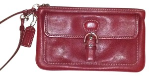 Coach Coach Zippered Wristlet With Outside Pocket