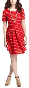Bordeaux short dress Red Anthropologie on Tradesy
