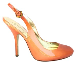 Marciano Slingback Fashion Patent Orange Pumps