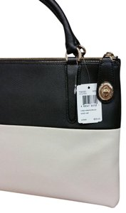 Coach Hard To Find Leather Tote in Colorblock: Black/White