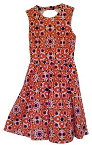 Kate Spade short dress Orange White and Pink Summer Sleeveless Solar Print on Tradesy