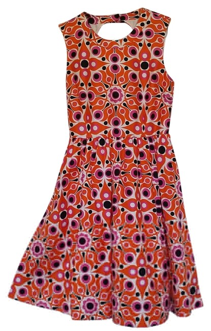 Item - Orange White and Pink Florence Broadhurst Kristy Mid-length Short Casual Dress Size 8 (M)