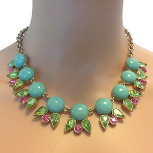 Mythologie Aqua necklace with green and pink crystals