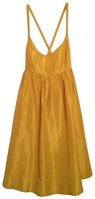 Preload https://item4.tradesy.com/images/jcrew-yellow-above-knee-night-out-dress-size-8-m-152223-0-0.jpg?width=400&height=650