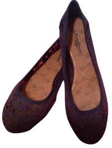 Lucky Brand Canvas Dark Navy Blue Flats