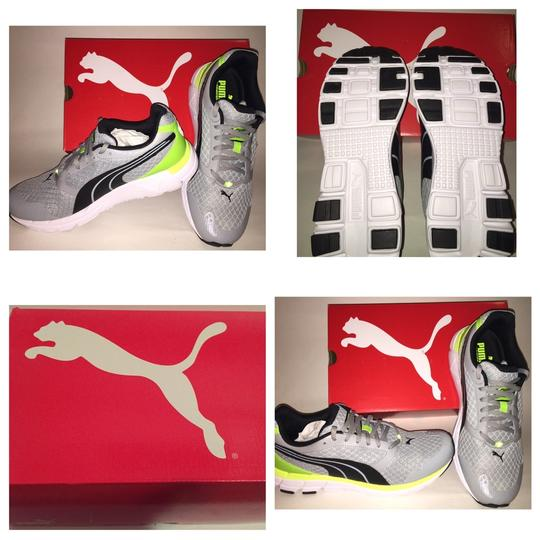 Puma Grey And Lime Athletic