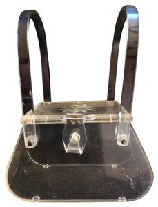 Patricia Of Miami Designer Lucite Vintage Collectors Collectors Item Tote in Clear Lucite