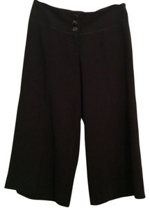 bebe Wide Leg Cropped Capri/Cropped Pants Black