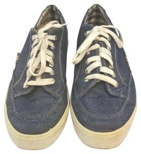 Burberry Blue Denim Sneakers Athletic