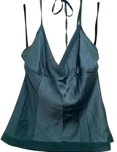 bebe Silk Teal Blue Halter Top