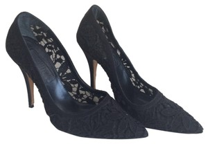 Giambattista Valli Black Lace Pumps