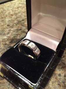 14k Men's White Gold Wedding Band