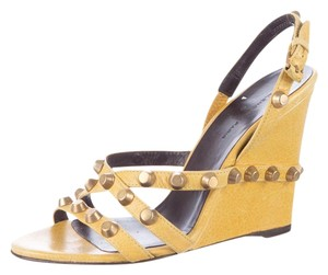 Balenciaga Hardware Studded Strappy Yellow, Gold Sandals