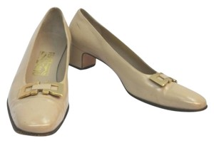 Salvatore Ferragamo Tan Leather Pumps