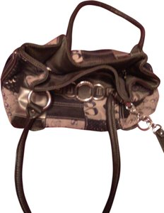 Sophia Caperelli Nylon Leather Polyester Shoulder Bag