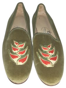 Stubbs & Wootton Chartreuse Flats