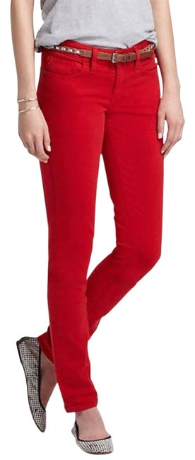Item - Red Anthro Skinny Jeans Size 30 (6, M)