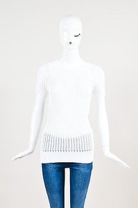 Derek Lam Off White Cable Sweater