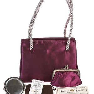 Judith Leiber Satchel in Plum