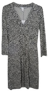 Diane von Furstenberg short dress Black White Floral Dvf on Tradesy