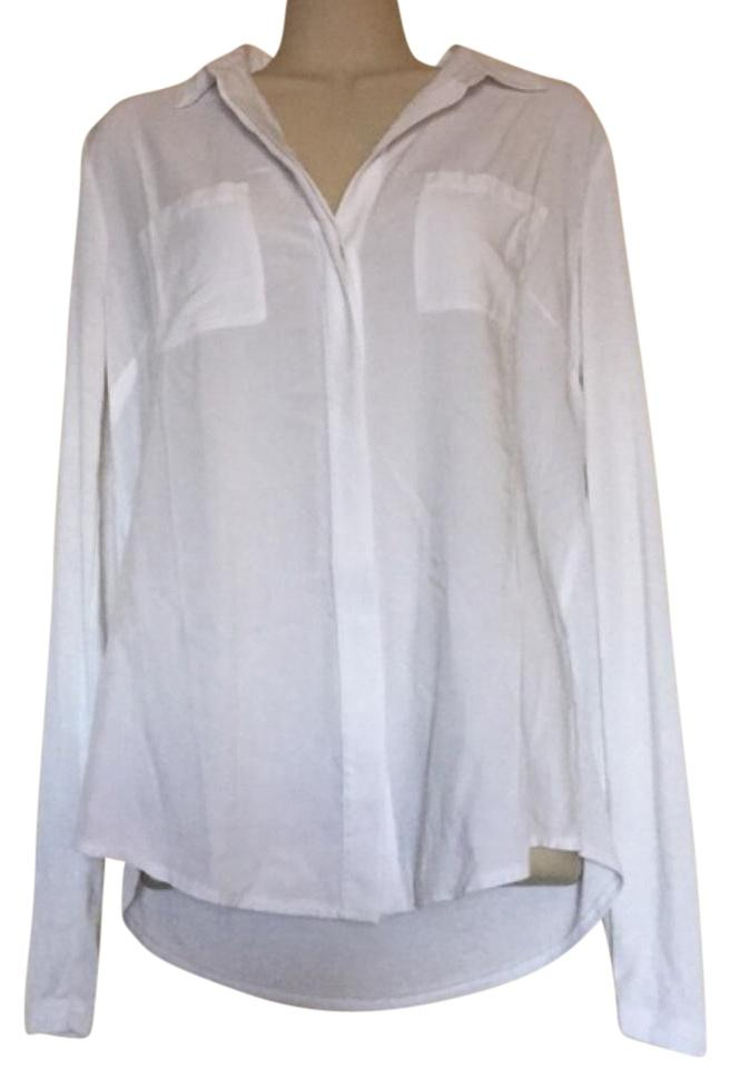 3ded2032f Ann Taylor LOFT White Button-down Top Size 8 (M) - Tradesy