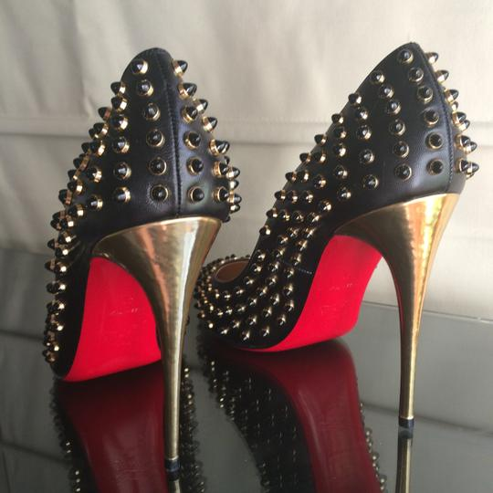 3d961d280898 Christian Louboutin Black Follies Cabo 120 Embellished Leather Pumps ...