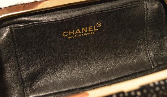 Chanel Paris Rare Tweed Black and White Clutch