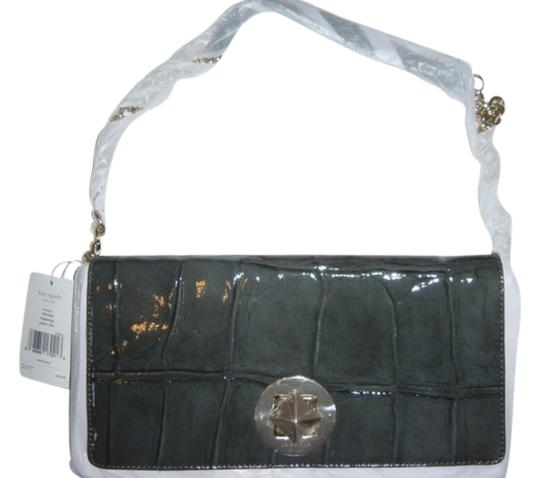 Kate Spade Convertible Evening Crocodile Patent Leather Shoulder Bag