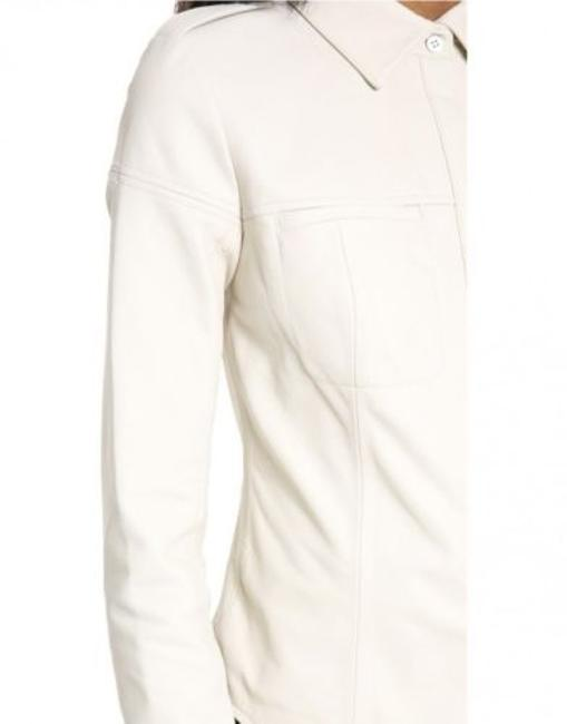 Rebecca Minkoff Length: 23in / 58cm From White/Moon Leather Jacket