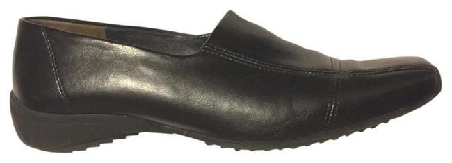 Item - Black Square Toe Loafer Oxford Rubber Leather Formal Shoes Size US 7.5 Regular (M, B)