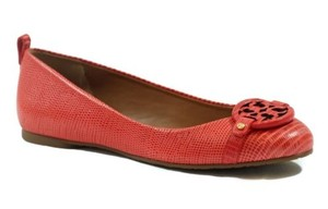 Tory Burch Mini Miller Tejus Red Flats