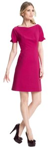 Elie Tahari Garnet Exposed Zipper Boat Neck Dress